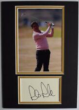 More details for robert rock signed autograph a4 photo display golf sport open aftal coa