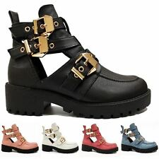 Buckle Block Synthetic Leather Formal Shoes for Women