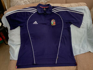 """Adidas British Lions 2005 Navy Blue Polo Shirt Size 46/48"""" Chest Very Good Cond"""