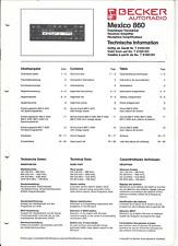 Becker Original Service Manual für Mexico 860