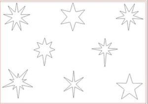 Stars Stencil Christmas A5 Xmas Art Crafts Reusable Flexible Painting Decorating