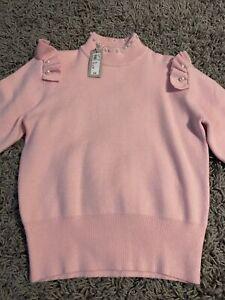 Pink Berlin doll River Island Pearl Jumper Size 8