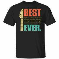 Gildan Best Dad Ever Guitar Chords for Musician Father's Day Music T-Shirt S-5XL
