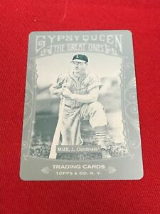 2011 Gypsy Queen JOHNNY MIZE 1/1 Cyan Printing Plate St Louis Cardinals ~MR02