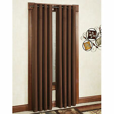 ONE HEAVY THICK  FAUX SILK panels BLACKOUT COFFEE  grommet window curtain LINED