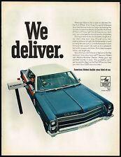 1967 BIG Vintage AMC Ambassador Right Hand Drive Postal Mail Car Photo Print Ad