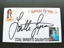"LORETTA LYNN ""COAL MINER'S DAUGHTER"" AUTOGRAPHED 3X5 INDEX CARD"