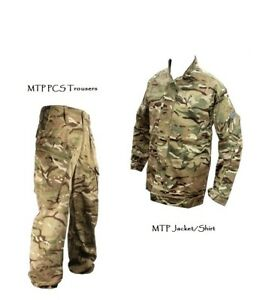 MTP PCS SHIRT/JACKET + PCS TROUSERS - British Army Military Camouflage - Grade 1