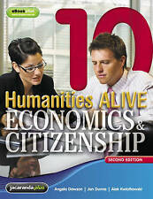 Humanities Alive Economics & Citizenship 10 & eBookPLUS by Angela Dawson, e2 New