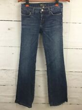 BEBE Jeans WOMENS 27 Rhinestone Bling Distressed Flare Embellished Made In USA