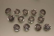 13 Stück 800er Silber Trachtenknöpfe Edelweiss Design 18mm für Weste oder Janka
