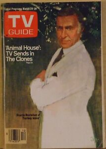 ANIMAL HOUSE: TV sends in the clones 1979 TV GUIDE w/ Ricardo Montalban