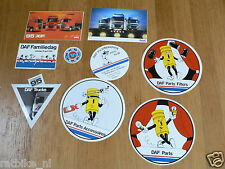 STICKER,DECALS SET 1 DAF TRUCK LOT OF ABOUT 9 STICKERS SEE PICTURES VRACHTWAGENS
