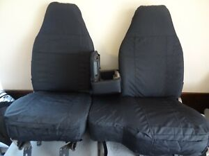 1998-2001 Ford Ranger XLT & XCab Exact Seat Covers 60/40 Bench in all Black