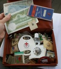 Vintage HUGE Junk Drawer LOT Tobacco Money Pins Scouts Lighters Coins Jewelry NR