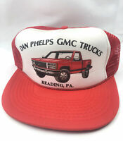 Vintage GMC Pickup Trucks Red Trucker Snapback Hat. NOS Pennsylvania Cap. Rare!