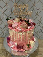 Custom Cake Topper Any Three Words Rose Gold Glitter Any Colour Free UK P&P