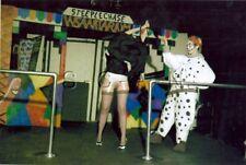Org Amateur Semi Nude Large (10.25 x 7) Photo- Clown- Funhouse- Skirt- Stockings