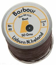 Barbour Linen Thread 40/3 Black, Brown, & White
