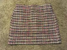 J CREW Tinsel Plaid Mini Skirt Size 8 Above Knee Multi Colored F5284 K88