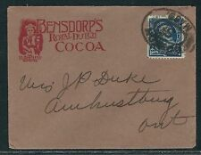 1890's 1c Franklin First Bureau Circular Rate Advertising Cover to Canada