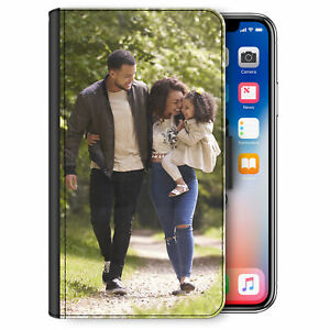 Personalised Phone Case For iPhone 11/12/Pro/Max/XR Photo PU Leather Flip Cover