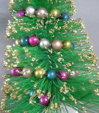 "vintage Mid Century Bottle Brush Tree Gold tips & Mercury Glass garland 14"""