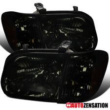 For Toyota 0225-2006 Tundra 2005-2007 Sequoia Smoke Headlights+Corner Lamps Pair