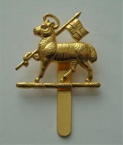 British Army Queens West Surrey Regiment Gilt Cap Badge