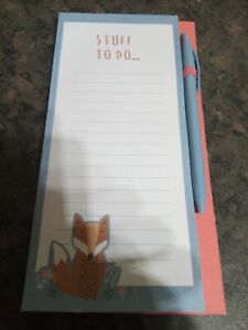 """""""""""10""""""""MEMO PAD/SHOPPING LISTS WITH ATTACHED BALL POINT PEN. GREAT ITEM-""""BARGAIN"""""""