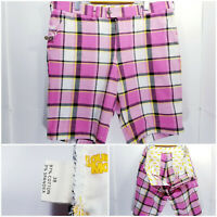 NWOT Loudmouth Golf Mens Size 38 Shorts Golf Strawberry Shake