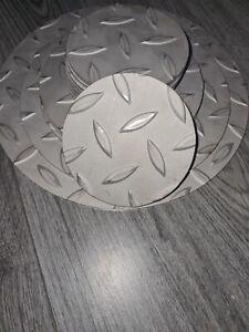 Stainless steel Treadplate/chequer/Durbar. Laser cut. 3mm thick. Circle/disc