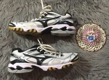 Mizuno Women's Wave Bolt 3 VolleyBall Shoes White Black Silver Size 10
