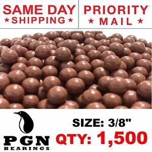 "1500 QTY - Biodegradable Slingshot Ammo 3/8"" Inch Precision Hard Clay Balls"