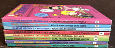 Lot Of 8 Charlie Brown Encyclopedia Books