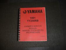 1991 Yamaha TY250RB Factory Service Manual