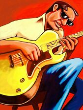 HOWARD ROBERTS PRINT poster jazz gibson epiphone archtop guitar swingin groove