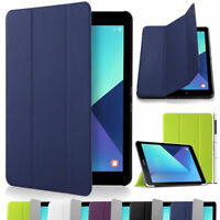 Smart 3 Fold Magnetic Slim Flip Case Cover for Samsung Galaxy Tab A 10.1 T580-85