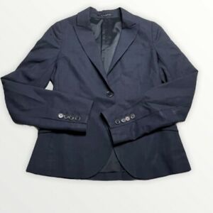 Theory Womens Navy Blue Blazer 0 Professional Suit Blazer Jacket Ladies Career
