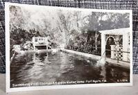 RPPC Postcard Thomas A. Edison Swimming Pool Winter Home Ft. Myers, FL VTG