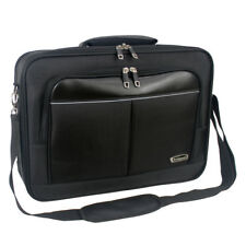 Mens Black Laptop Bag Briefcase Work Office Shoulder Bag Faux Leather 6302