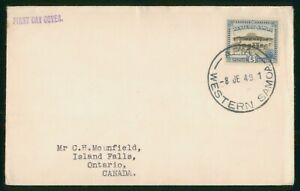 Mayfairstamps Western Samoa FDC 1949 Apia Post Office First Day Cover wwp_75647