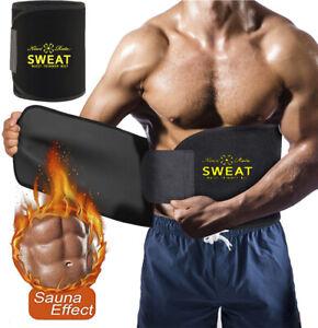 Men Waist Trimmer Sweat Belt Tummy Control Body Shaper Weight Loss Trainer Band