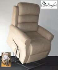 BRONSON LIFT CHAIR RECLINER - ELECTRIC MOTOR - STONE BEIGE FABRIC