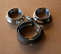4x Stainless Steel 2 bolt 35mm 38mm External Wastegate Flange SS no threads new