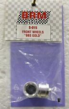 BRM S-015 BBS GOLD FRONT WHEELS NEW 1/24 SLOT CAR PART