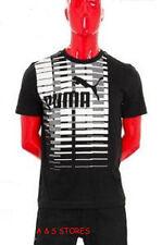 Men's New Puma T shirt Tee Black Top Fashion Summer Sizes S M L Cotton
