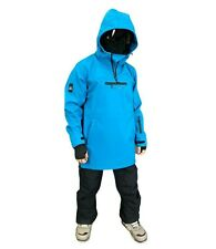 Mountride Anorak Mens Womens Softshell Ski Snowboard Jacket New Blue Waterproof