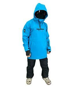 Mountride Anorak Mens Womens Softshell Ski Snowboard Jacket New Blue Waterproof
