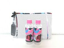 Estee Lauder Limited Edition Capri Cosmetic Makeup Bag and 2 Travel Bottles